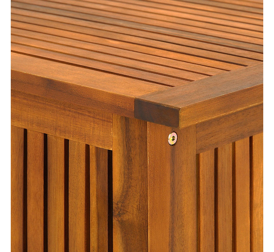 Deuba Steunbox acaciahout 117x50x59cm incl. binnenzeil
