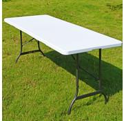 Casaria Casaria Klaptafel | Camping tafel | Tuintafel | Opvouwbare tafel | wit - kunststof 183 x 76 x 74 cm