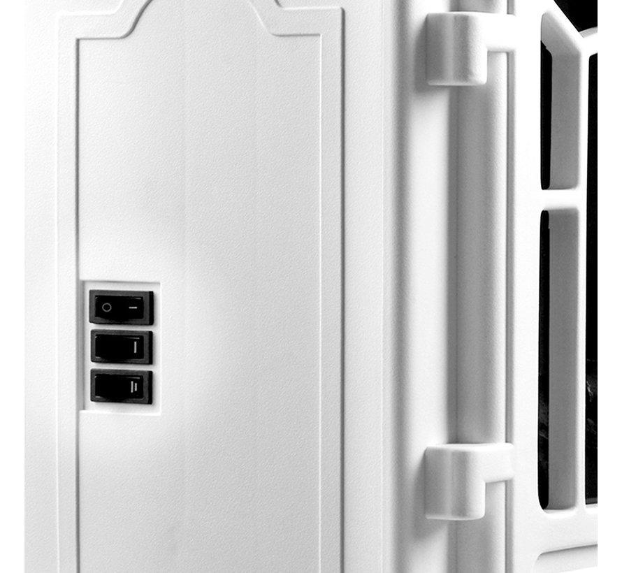 Deuba Elektrische open haard met verwarming en openhaardeffect 2000W wit