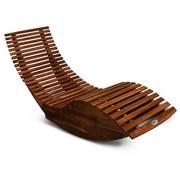 Casaria Ergonomische Comfortabel Ligbed Schommelend Voor Tuin - Acaciahout FSC-gecertificeerd - 150x60x93cm