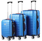 Monzana Monzana Exopack hardcase kofferset blauw M/L/XL