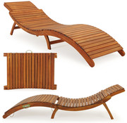 Deuba Deuba Opvouwbare ligstoel acaciahout FSC-gecertificeerd