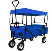 Deuba Deuba bolderkar blauw opvouwbaar met afneembaar dak