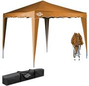 Deuba Deuba Vouwpaviljoen. party tent  Capri - Popup lichtbruin 3x3m