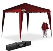 Deuba Deuba Vouwpaviljoen. party tent  Capri - Popup donkerrood3x3m