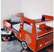Deuba Deuba Kinderbed,  Brandweerauto, Autobed, Brandweer - Noah 200x90 cm