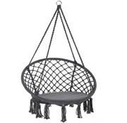 Detex Detex Hangstoel rond met franjes grijs Ø61cm