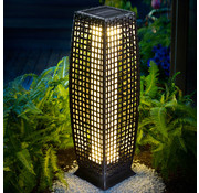 Deuba Deuba Solar tuinlamp polyrotan 25 LED 80cm