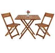 Deuba Deuba 3-delige Balkonset van acaciahout - 2 stoelen en 1 tafel