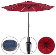 Kingsleeve Kingsleeve Parasol Maïmi met LED verlichting kantelbaar rood - Ø 2.7m