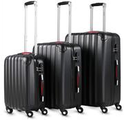 Monzana Monzana Hardcase koffer set- Baseline Zwart M/L/XL