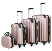Monzana Monzana Hardcase koffer set 4 delige Baseline Rosé Beautycase/M/L/XL