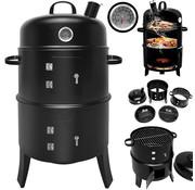 Gardebruk BBQ Rookoven Ronde Kook - Rook- en Grill-oven 81,5 x 41 cm met Thermometer en Ontluchtingsschuif 81,5 x 41 cm