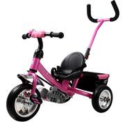 Deuba Deuba Kinder driewieler- metaal met duwstang - roze