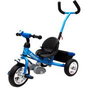 Deuba Deuba Kinder driewieler- metaal met duwstang - blauw