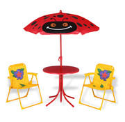 Deuba Deuba Kinder tuinset kever- 2 stoelen 1 tafel met parasol