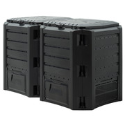 Generic Snelle compostbak 2 stuks - 800L -Compostvat - Composter - kunststof - 135 x 72 x 83cm