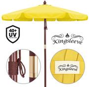 Kingsleeve Kingsleeve Parasol old look hout geel Ø 330cm met UV-bescherming 40+