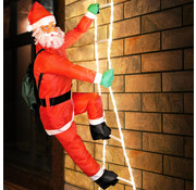 Deuba Deuba Kerstman op ladder 240cm MET Verlichting