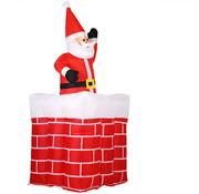 Deuba Deuba Kerstman in schoorsteen