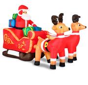 Deuba Deuba Kerstman in arreslee