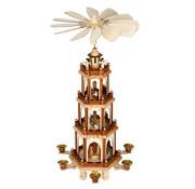 Deuba Deuba Kerstpiramide XL klassiek houten ontwerp