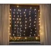 Generic LED Sterrenregen voor op het raam met 80 warm witte LEDs, 1,3m x 1,3m