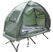 Sunny Sunny Campingbedset met opvouwbare tent, slaapzak, luchtbed en voetpomp voor 1 persoon