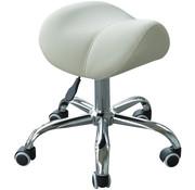 HOMdotCOM HOMdotCOM Zadelkruk verstelbaar rollende salonstoel beige