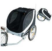 Paws Paws Hondentrailer fietskar universeel wit / zwart - L130 x B73 x H94 cm