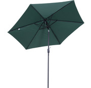 Outsunny Outsunny Tuinparasol met handslinger aluminium 180/  polyester groen   2,7 x 2,35 m