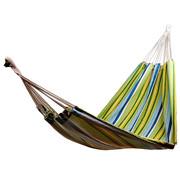 Outsunny Outsunny Hangmat voor meerdere personen 210 x 154cm tot 210kg groen/geel/blauw