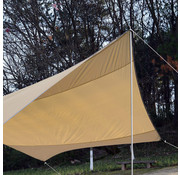 Outsunny Outsunny Zonnedoek geel/bruin met 2 stokken 550 x 560cm