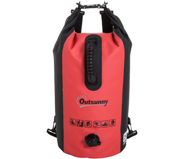 Outsunny Outsunny Waterdichte rugzak 20L rood incl. mobiele telefoon hoes
