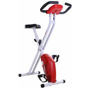 HOMdotCOM HOMdotCOM Hometrainer-Inklapbaar Fitnessfiets - ergometer  staal