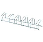 HOMdotCOM HOMdotCOM Fietsenrek voor 6 fietsen staal verzinkt 160 x 33 x 27cm