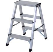 HOMCOM HOMCOM Opstapje ladder inklapbaar 3 treden alu 59 x 40 x 56 cm