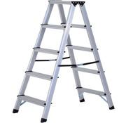 HOMCOM HOMCOM Ladder inklapbaar 5 treden alu 88 x 45 x 103cm