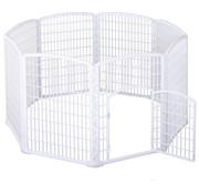 PawHut PawHut Loopren voor huisdieren kunststof wit 180 x 95cm