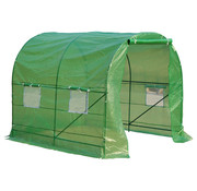 Outsunny Outsunny Tuinkas walk-in 2 groen 250 x 200 x 200 cm