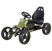 HOMCOM HOMCOM Skelter vanaf 3 jaar met pedalen en verstelbare zitting - zithoogte 27cm - legergroen