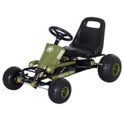 HOMCOM HOMCOM Pedaalauto Pedal Go Kart vanaf 3 jaar groen