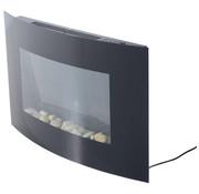 HOMCOM HOMCOM Elektrische muurhaard met afstandbediening 1800 Watt LED Zwart