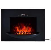 HOMCOM HOMCOM Elektrische Openhaard 1800 Watt 7 kleuren LED Flame Illusion Black