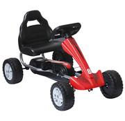HOMCOM HOMCOM Skelter trapauto Go-Kart rood