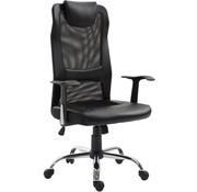 Vinsetto Vinsetto Bureaustoel ergonomisch kunstleer zwart 51 x 60,8 x 112 122 cm