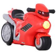 HOMCOM HOMCOM Kinderkoffer motorfiets met wieltjes 4-in-1 rood 52 x 25 x 34cm