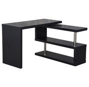 HOMCOM HOMCOM Bureau computertafel L-vorm zwart