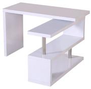 HOMCOM HOMCOM Bureau computertafel L-vorm wit
