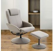 HOMdotCOM HOMdotCOM Relaxfauteuil met voetensteun 360 graden draaibaar taupe